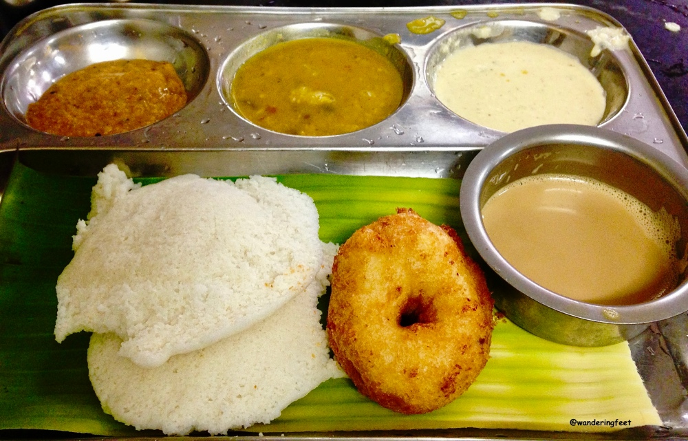 Traditional South Indian breakfast