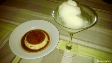 Creme Caramel & Colonel At Villa Shanti