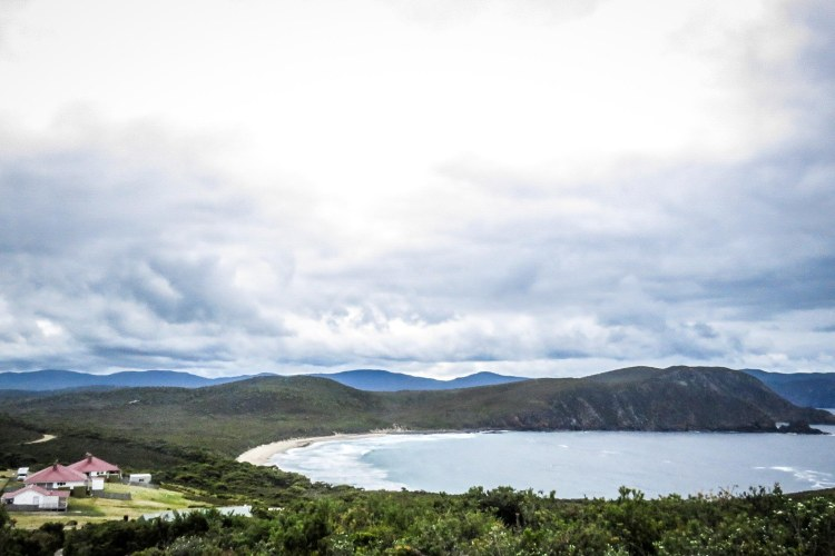 Scenic mountain top views on Bruny Island