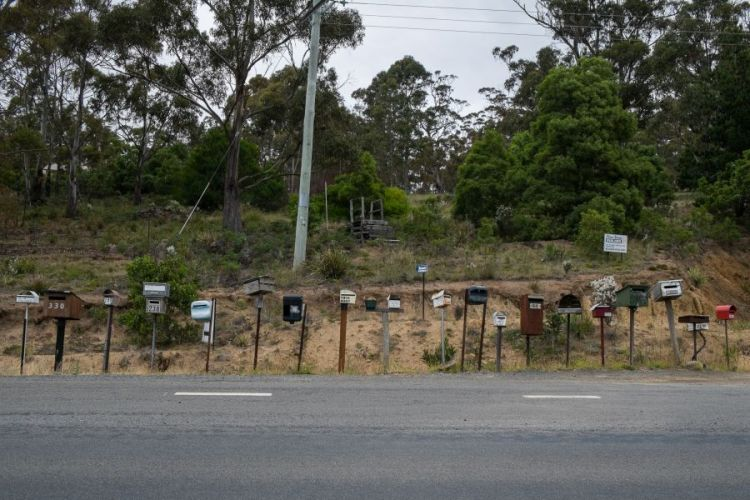Postboxes In Bruny Island
